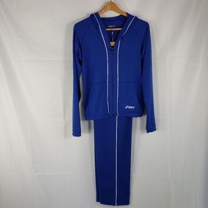 Asics Track Suit Classic Blue Size Small